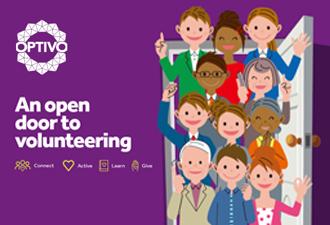 Image: An open door to volunteering