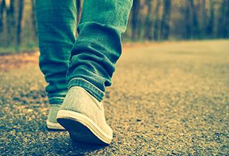 Image: woman walking