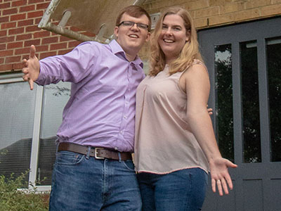 IMAGE: Dan and Katie celebrate moving into their Shared Ownership home