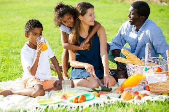 Image: family picnic in the sun
